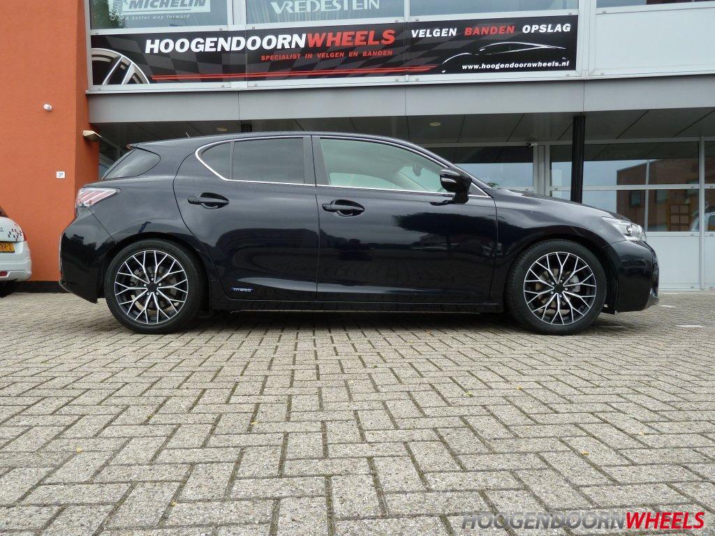 Lexus Ct 200h Zwa1 Niu Wheels Y 17 Inch Mat Zwart Gepolijst