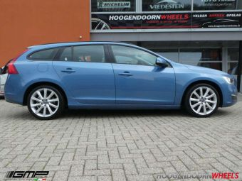 GMP WHEELS DEDICATED VOLVO V 60 IN 18 INCH EN ZILVER