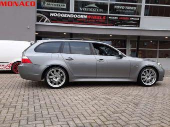 MONACO WHEELS CHICANE 19 INCH GEMONTEERD ONDER EEN BMW 5 SERIE